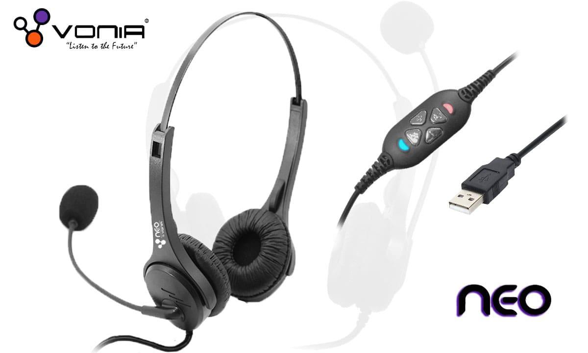 Vonia Neo USB Headset : Low Cost USB Headsets in Delhi, Noida, Gurgaon
